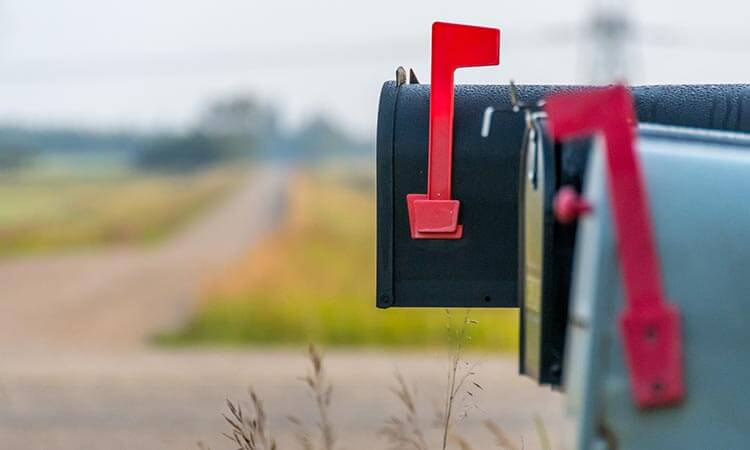 locked mail boxes